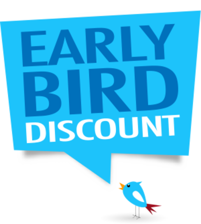 Early bird discount kbefzy